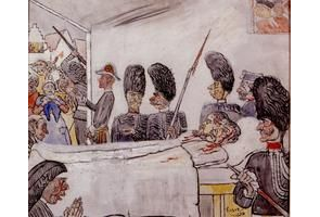 James Ensor, De gendarmen, 1892